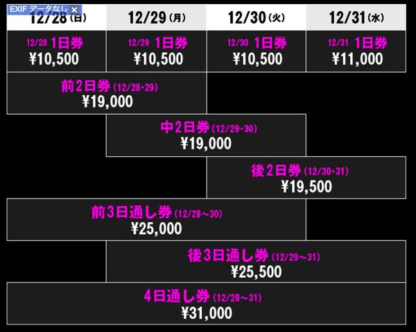カウントダウンジャパンチケット