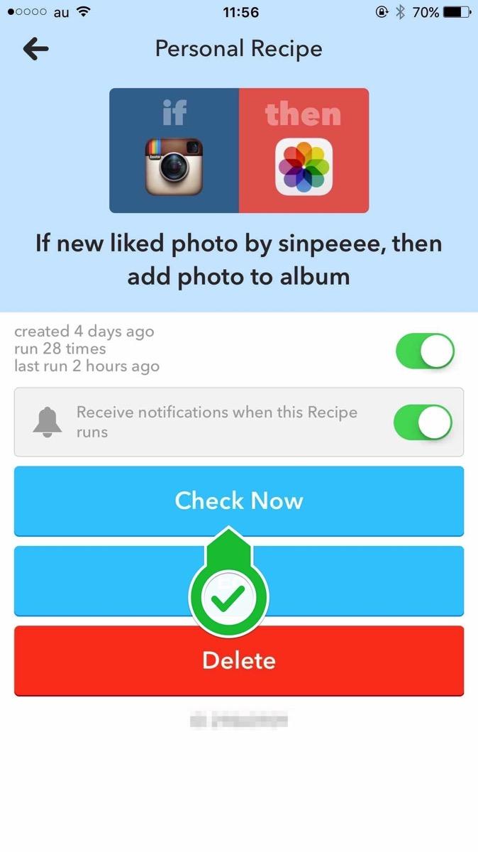instagram(インスタグラム)でいいねした画像を自動で保存する方法