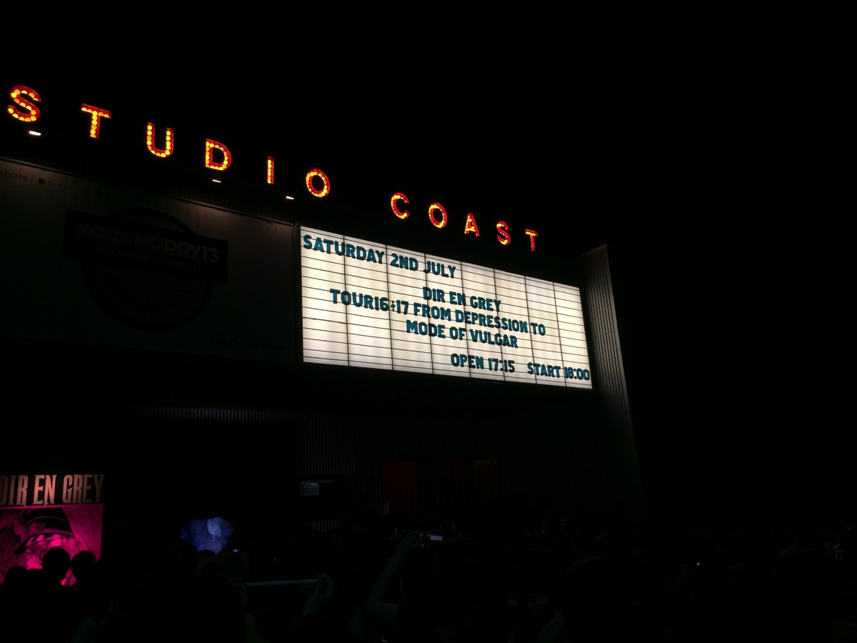 【LIVEレポ】DIR EN GREY TOUR16-17 FROM DEPRESSION TO ______ [mode of VULGAR]@新木場スタジオコースト