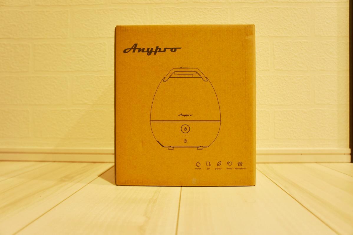 Anyproの2L加湿器が一晩越すにはちょうどいい大きさという話【PR】