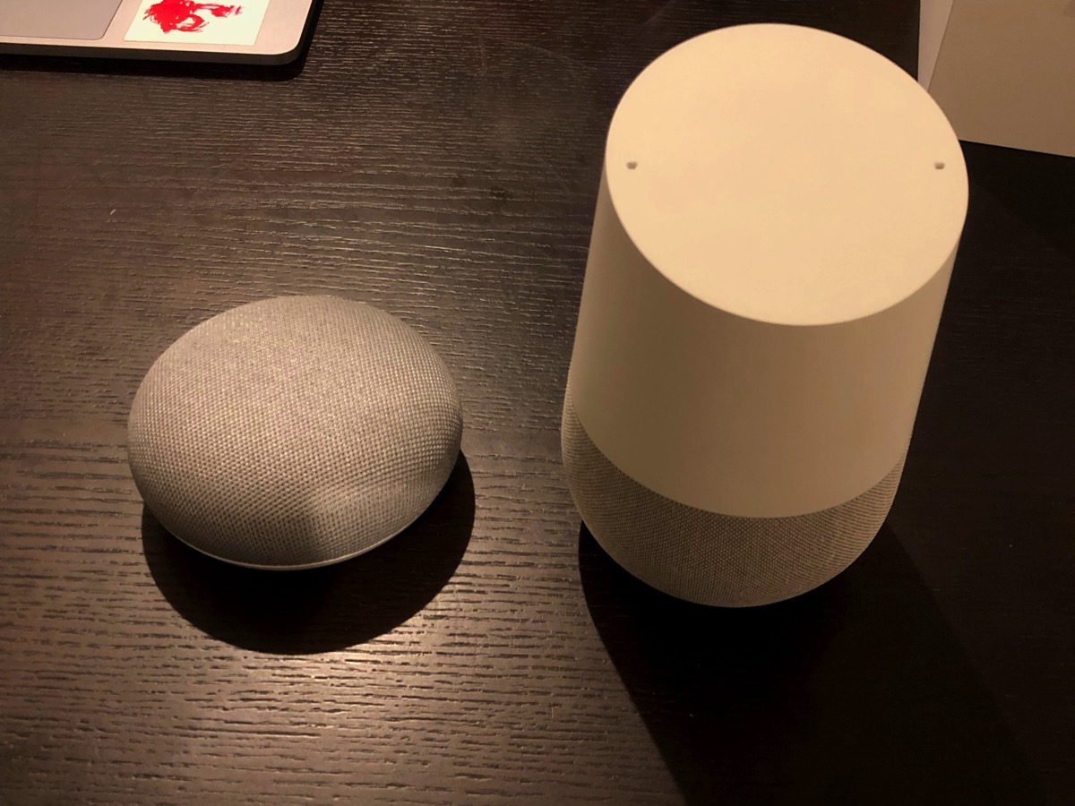 google homeとminiの比較